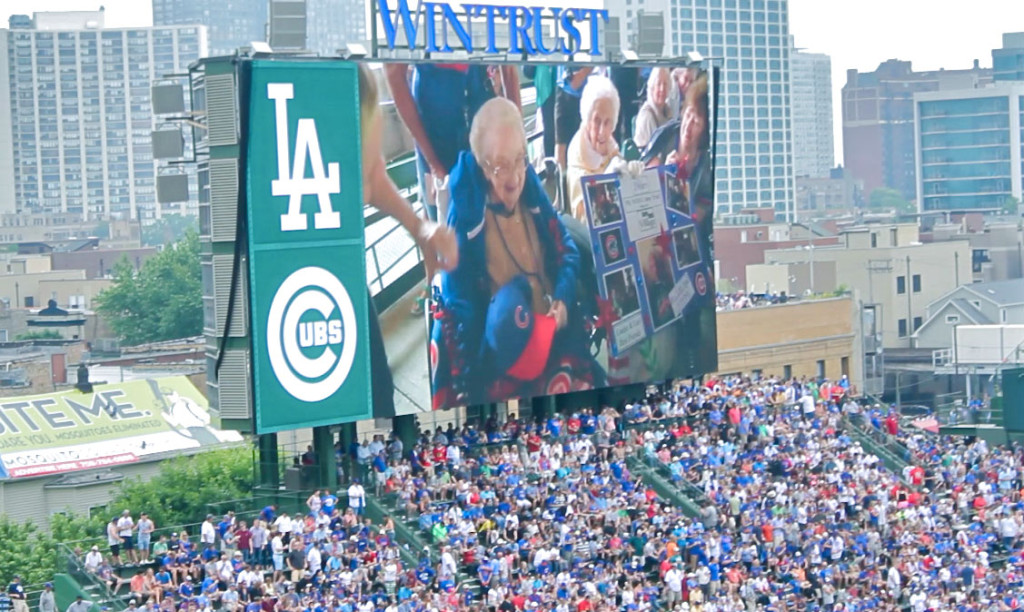 Lori on the jumbotron