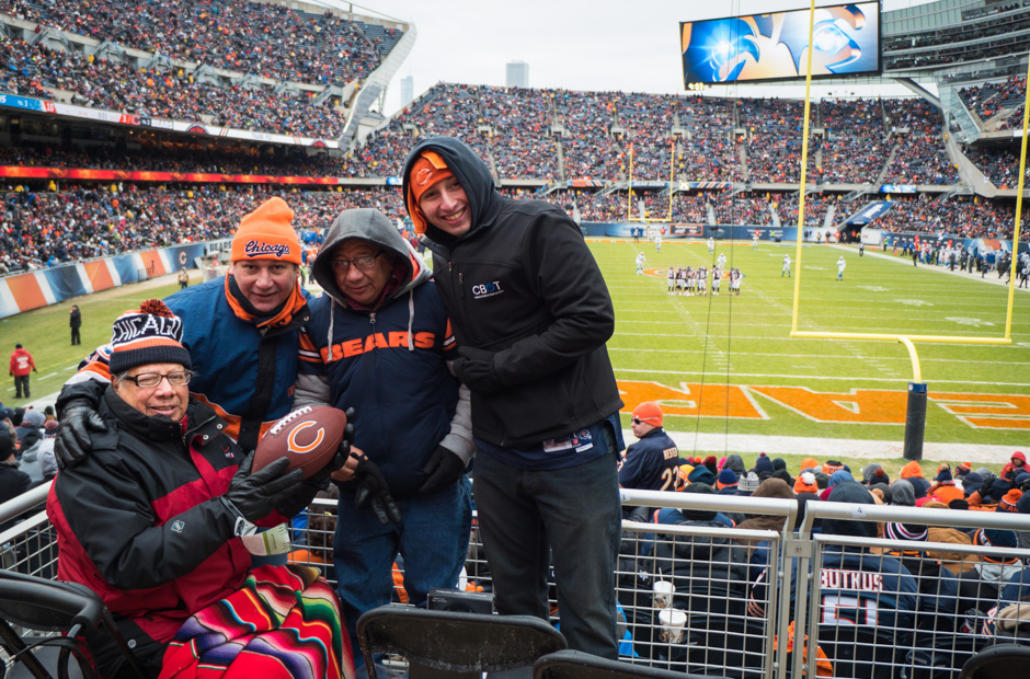 Jesse and Family at the Bears Game
