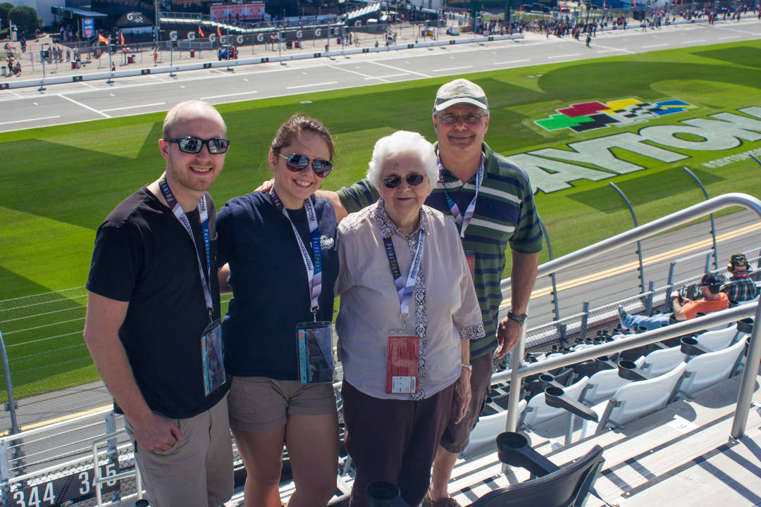 Irene and Her Family at Daytona