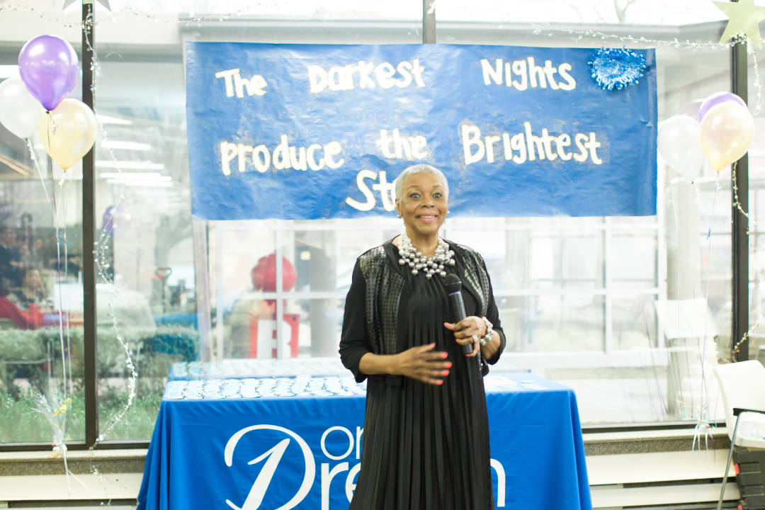 Delores gave a speech to thank everyone, which was her dream come true