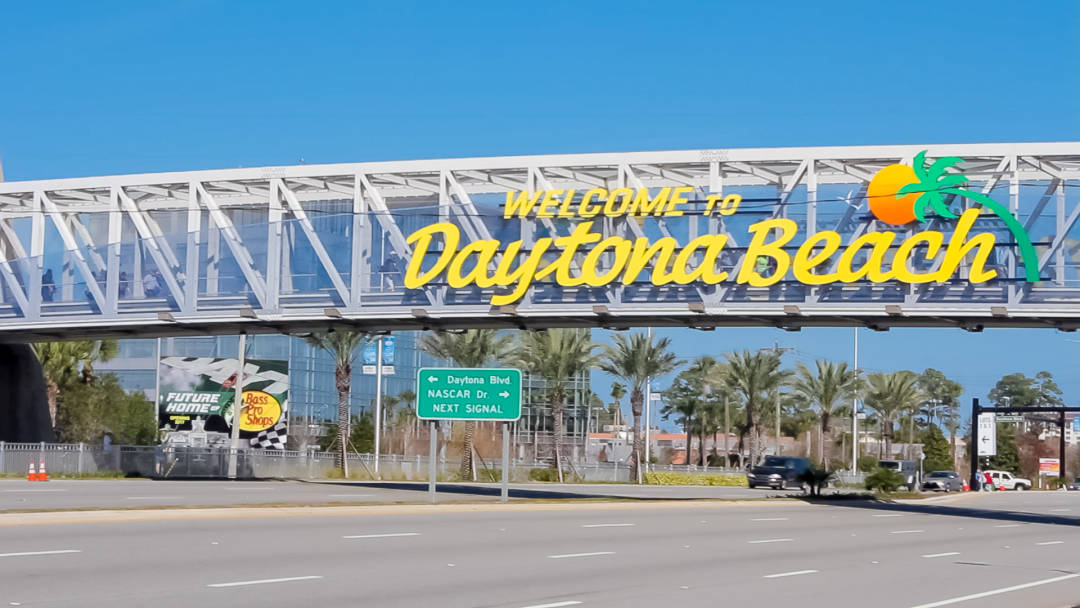 Daytona Beach Sign on the Bridge