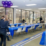 The Prospect High School Sophomore Class Board setting up for the party